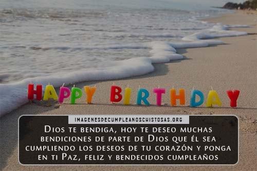 Feliz cumpleaños cristiano Dios te bendiga