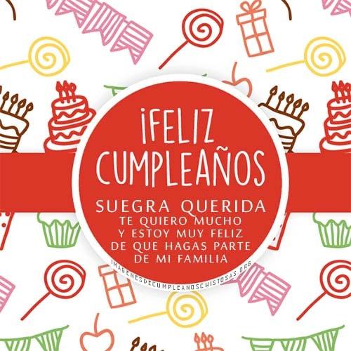Feliz cumpleaños para la suegra