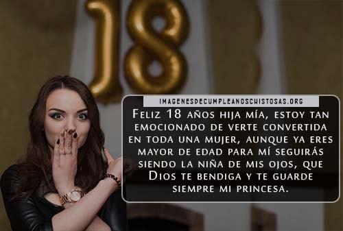 Feliz cumpleanos numero 18 para mi hija