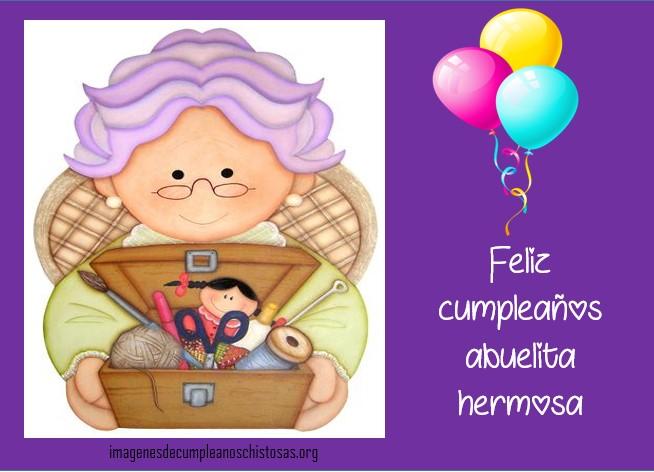 imagenes de cumpleaños para abuelas con frases