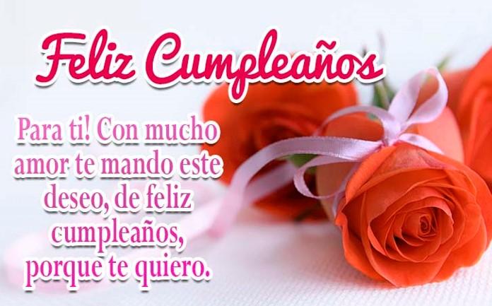 Imágenes de cumpleaños con rosas bonitas