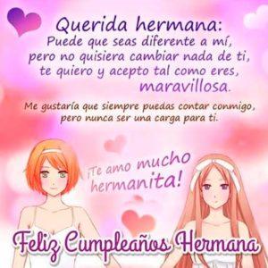 Imágenes de cumpleaños para una hermana