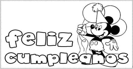 Dibujos con mensajes de feliz cumpleaños