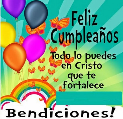 Feliz día felicidades en tu cumpleaños