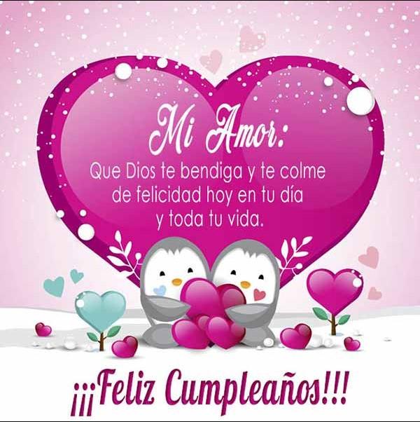 Muchas felicidades en tu cumpleaños mi amor