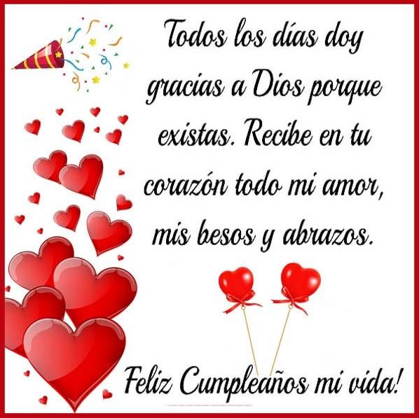 Tarjetas de feliz cumpleaños Dios te bendiga