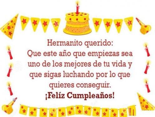 Felicitaciones en tu cumpleaños hermano