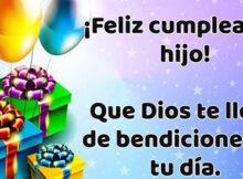 Feliz cumpleaños hijo querido