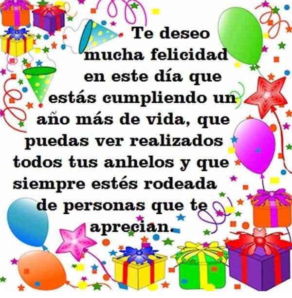 Muchas felicidades en tu cumpleaños