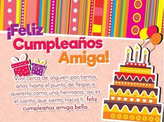Amiga de mi corazón feliz cumpleaños