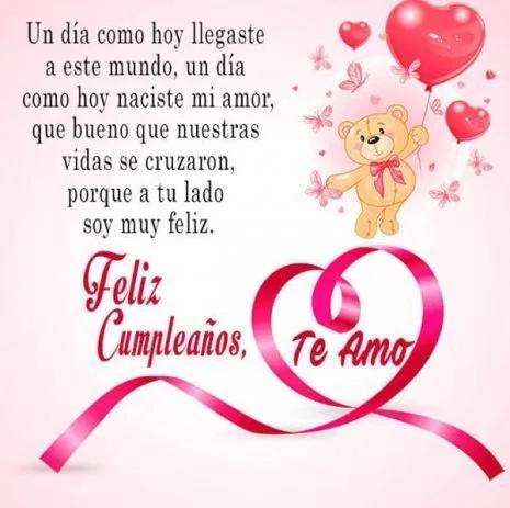 Felicidades en tu cumpleaños amor