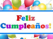 Feliz cumpleaños Dios te bendiga