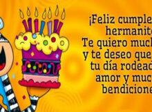 Feliz cumpleaños hermano