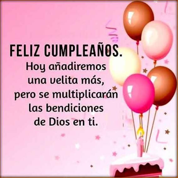 Muchas felicidades por tu cumpleaños
