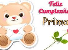 Felicidades en tu cumpleaños prima querida