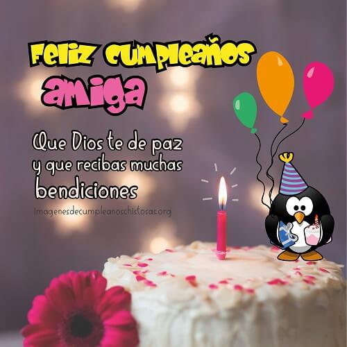 feliz cumpleaños amiga mia