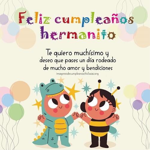 feliz cumpleaños a mi hermanito
