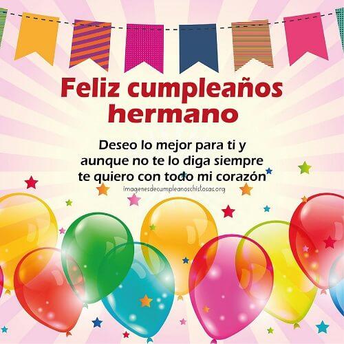 feliz cumpleaños mi hermano