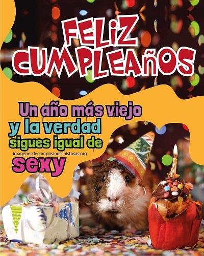 feliz dia de tu cumpleaños gracioso