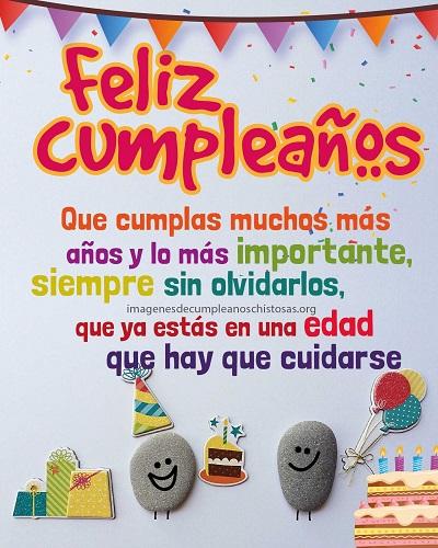 feliz cumpleaños chistoso edad  no nos olvides