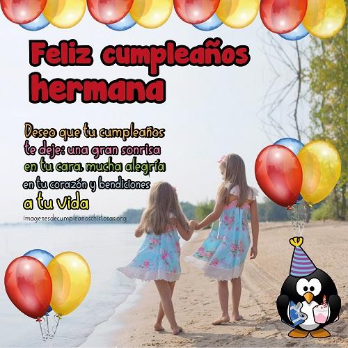 feliz cumpleaños par mi hermana