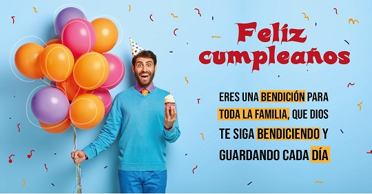 felicidades en tu cumpleaños hombre con globos