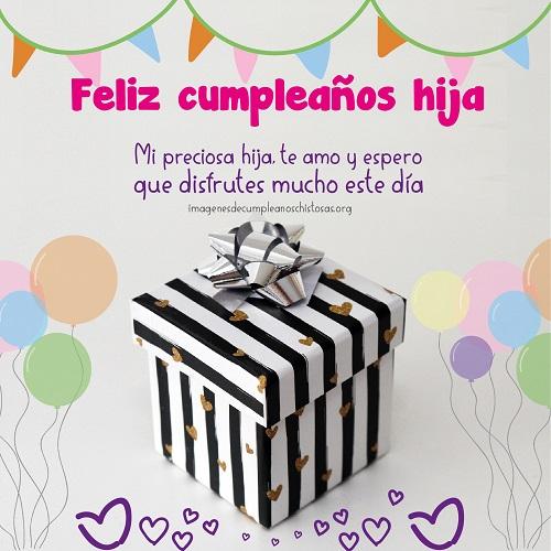 felicitaciones de cumpleaños hija regalo y frase