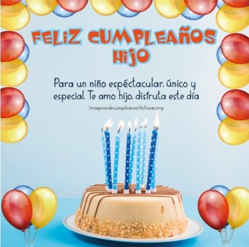 feliz cumpleaños para un hijo