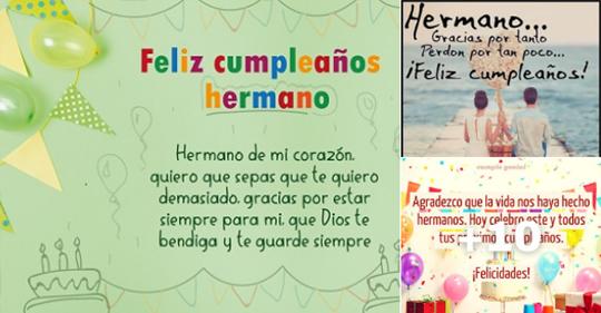 tarjetas de cumpleaños para un hermano