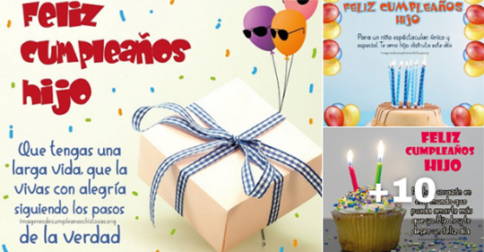 imagenes de feliz cumpleaños hijo con mensajes