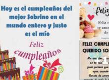 felicidades de cumpleaños sobrino