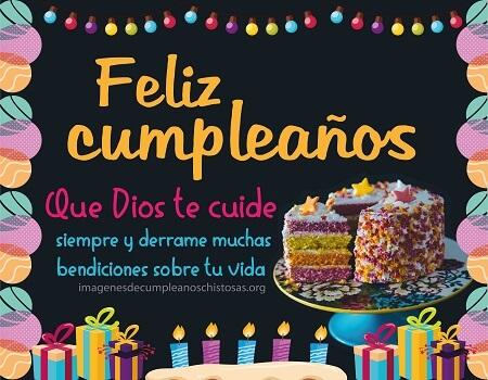 feliz cumpleaños dios te bendiga pastel y velas