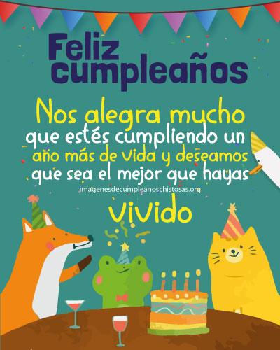 feliz cumpleaños para niños fiesta de animales