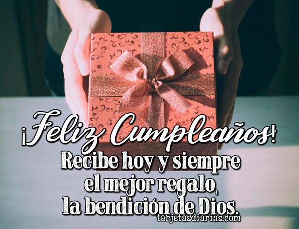 feliz cumpleaños regalo y bendiciones