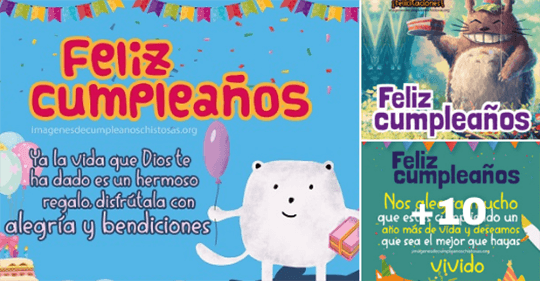 feliz cumpleaños para niños