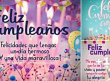 feliz cumpleaños con pastel y velas